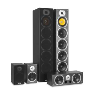 V9B Pack 5 enceintes HiFi surround 88dB 440W RMS -noir
