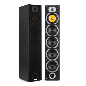 V7B 4-way Bass Reflex Tower Speakers 440W Detachable Front Panel Black