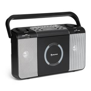 Boomtown USB CD-Player UKW Radio MP3 tragbar Kofferradio Boombox