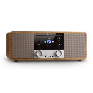 IR-190 Radio internet Bluetooth Lecteur CD WiFi UPnP USB MP3 AUX - marron