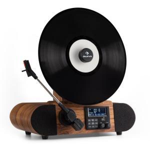 Verticalo DAB Tocadiscos vintage DAB+ Sintonizador FM USB BT AUX Despertador