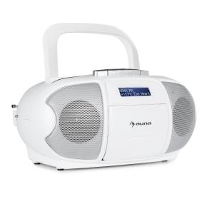 BeeBerry DAB Boombox Radio portable lecteur K7 USB CD MP3 FM DAB+ blanc