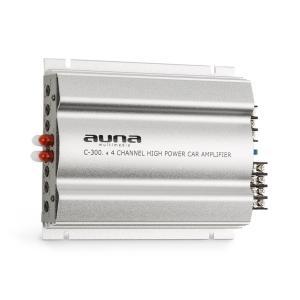C300.4 Amplificatore 4 Canali Finale di Potenza Auto 1200W PMPO 300W RMS argento
