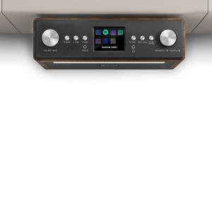 "Connect Soundchef Substructure Kitchen Radio Internet DAB+ FM 2x3"" Speakers walnut"