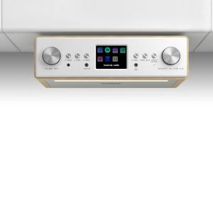 "Connect Soundchef Radio encastrable Internet DAB+ FM enceintes 3"" - hêtre"