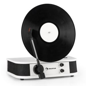 Verticalo S Retro Design Turntable Vertical Record Player USB White