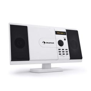 MCD-82 DVD Player Stereo System USB SD White