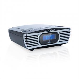 Dreamee DAB+ Radiowecker mit CD-Player | Radio: UKW (FM) & DAB+ Empfang | CD-Player: CD / CD-R / CD-RW / MP3 | integrierte Stereo-Lautsprecher | Digital-Display | USB-Ladeanschluss | AUX-In | Dual-Alarm | Sleep-Timer | Retro-Look | schwarz