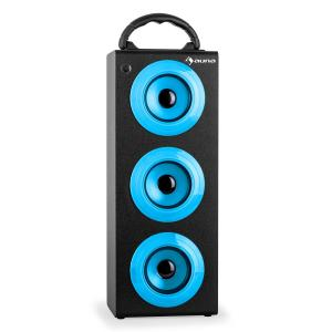auna Beachboy XXL Bluetooth Speaker USB SD AUX FM Battery Blue
