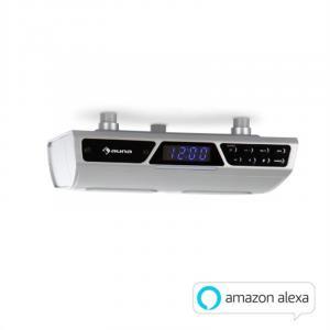 Intelligence Radio WiFi Küchenunterbauradio | Amazon Alexa | Bluetooth | WLAN | Freisprecheinrichtung | Unterstützung von Streaming-Diensten | Multiroom-fähig mit Systemen von auna Intelligence | inklusive Montagematerial | silber