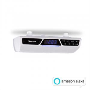 Intelligence Radio WiFi Küchenunterbauradio | Amazon Alexa | Bluetooth | WLAN | Freisprecheinrichtung | Unterstützung von Streaming-Diensten | Multiroom-fähig mit Systemen von auna Intelligence | inklusive Montagematerial | weiß
