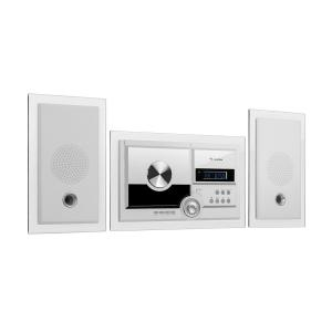 auna Stereosonic Stereo System, Wall Mounting, CD Player, USB, BT, White