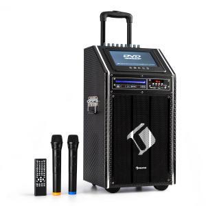 auna DisGo Box 100 DVD Equipo PA móvil 300 W máx. Display TFT 9