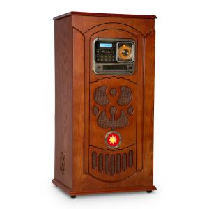 auna Musicbox Jukebox, Record Player, CD Player, BT, USB, SD, FM Tuner, Wood
