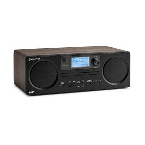 auna Worldwide CD Radio Internet Spotify Connect contrôle par application Bluetooth - noyer