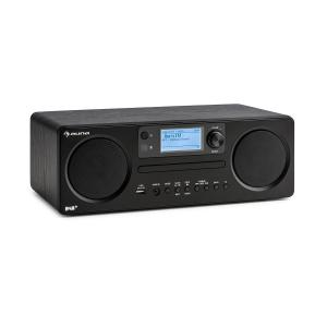 Worldwide CD Internetradio | DAB+/UKW-Tuner mit RDS | Spotify Connect | UNDOK-App-Control | Multiroom-Control | Bluetooth-Funktion | LED-Display | USB-Eingang | AUX-Eingang | Dual-Alarm & Sleep-Timer | Stereo-Lautsprecher | schwarz