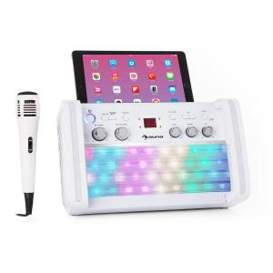 auna DiscoFever 2.0 Karaoke System, BT, Multicolour Disco LED, CD / CD + G Player