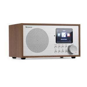 auna Silver Star Mini Internet DAB + / FM Radio, WiFi, BT, DAB + / FM, Oak