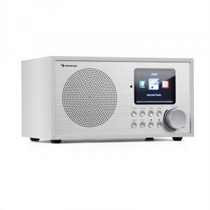 auna Silver Star Radio Internet Mini DAB+/FM, WiFi, BT, DAB+/FM, Bianco