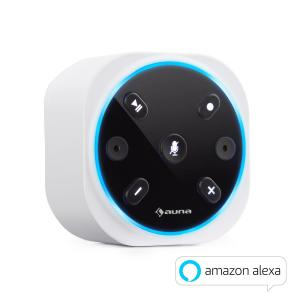 auna Intelligence Plug Wireless Enceinte pour prise murale Alexa-VoiceControl Bl