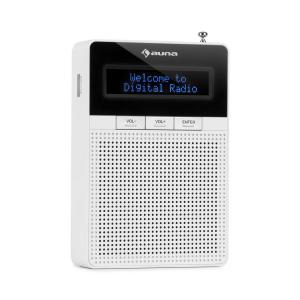auna DigiPlug DAB Powered Radio, DAB+, FM/PLL, BT, Display LCD, bianco