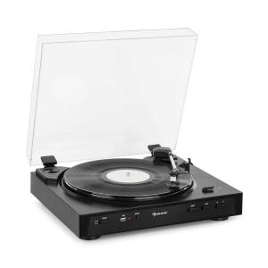 auna Fullmatic Fully Automatic Turntable USB Preamp Black