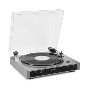auna Fullmatic Fully Automatic Turntable USB Preamp Silver