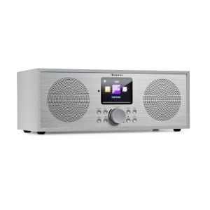 Silver Star Stereo Internet DAB+/UKW Radio | WiFi |  Bluetooth-Funktion | DAB+/UKW Tuner | USB-Port | Steuerung per App (Air Music Control) |  UPnP/DLNA Standard | Holzgehäuse | 2,8