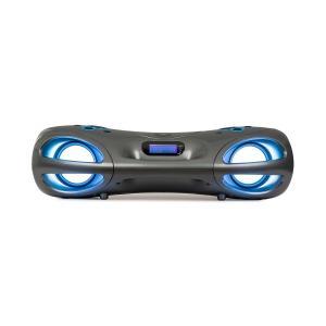 auna Spacewoofer Boombox Reproductor de CD Radio FM Bluetooth Mando a distancia Gris
