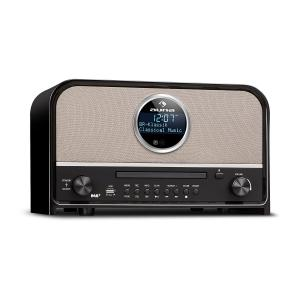auna Columbia DAB Radio 60 W max. CD DAB+/VHF-Tuner BT MP3 USB Nero