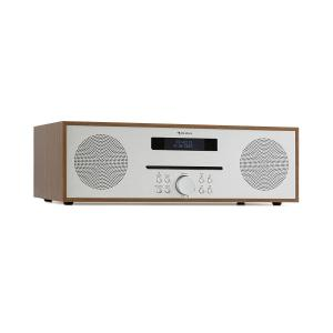 auna Silver Star CD-FM Lecteur CD FM Slot-In Bluetooth Alu 2x 20W max. - marron