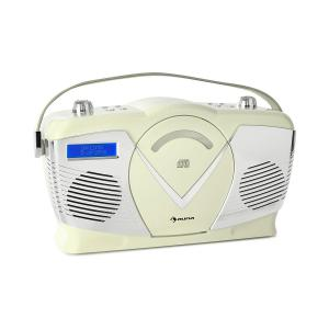 auna RCD-70 DAB Retro CD Radio FM DAB + CD Player USB Bluetooth Cream