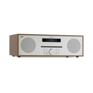 auna Silver Star CD DAB Lecteur CD DAB+ Slot-in Bluetooth 2x 20W Alu - marron