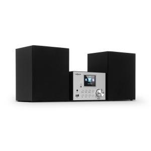 Streamo Stereoanlage mit Internetradio | Radioempfang per WLAN,  DAB/DAB+ und UKW | 2x 10W RMS Lautsprecher | Bluetooth | CD-Player | Anschlüsse:  USB, AUX-IN | 2,4