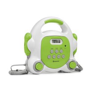 auna Pocket Rocker BT lettore per karaoke BT porta USB MP3 2xmicrofoni verde