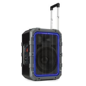 auna Spencer altoparlante PA portatile 60W BT impermeabile secondo IPX4 nero/grigio