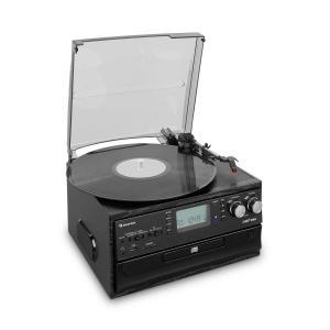auna Oakland chaîne stéréo rétro FM fonction BT Vinyle CD cassette MP3