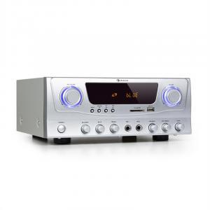 Amp-2 BT Hifi-Verstärker 2x50 W RMS BT USB SD 2 x Mikro FM-Radiotuner