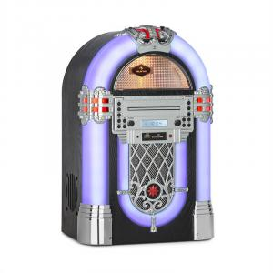 auna Kentucky jukebox, BT, radio FM, USB, SD, MP3, lettore CD, bianco