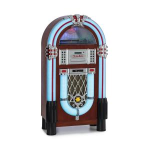 auna Graceland DAB fonola BT CD vinilo DAB+/UKW USB SD AUX-IN luz LED