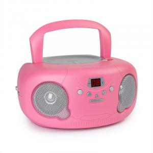 Pink Bonbon CD Boombox CD-Player Bluetooth UKW AUX-IN LED-Display pink