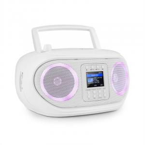 Roadie Smart Boombox Internetradio DAB/DAB+ UKW CD-Player LED WiFi Bluetooth weiß