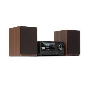 Connect System Stereoanlage | 80W max. | 2 x 20W RMS Lautsprecher | Internet/DAB+/FM Radio | CD-Player | Bluetooth | Spotify Connect | USB-Anschluss | App-Steuerung (UNDOK) | 2,4