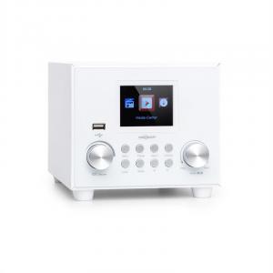 Streamo Cube Internetradio | Radioempfang per WLAN | Lautsprecher 3W & Subwoofer 5W RMS | Bluetooth | Anschlüsse: USB, AUX-IN, Kopfhörer | 2,8