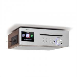 Silverstar Chef Küchenradio 20W max. CD BT USB Internet/DAB+/UKW silber