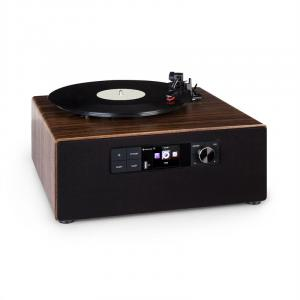 Connect Vinyl Cube Plattenspieler 40W max. Internet/DAB+/UKW USB braun