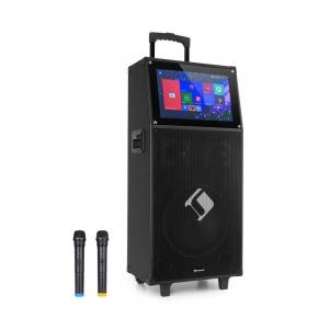 KTV Karaoke-System | Touch-Display | WiFi-Schnittstelle | 2 drahtlose UHF-Mikrofone | Bluetooth | 2 x USB-Port | SD & Micro-SD | HDMI | AUX-Ausgang | 12