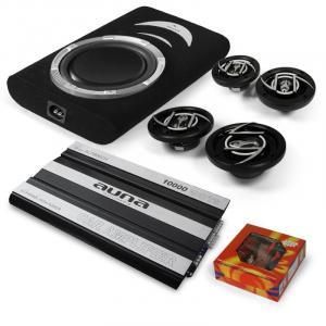 "4.1 Car-Hifi Set ""Suzuka"" 6-Kanal MOSFET Car HiFi Endstufe, 30cm (12"") Subwoofer 600W max., 2 Paar Auto-Lautsprecher, Kabelset"