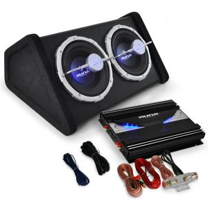 Auna Black Line 140 Set car Hi Fi 0.1 2800W doppio sub