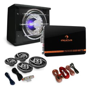 4.1 Black Line Car Stereo System Amplifier Subwoofer 5000W